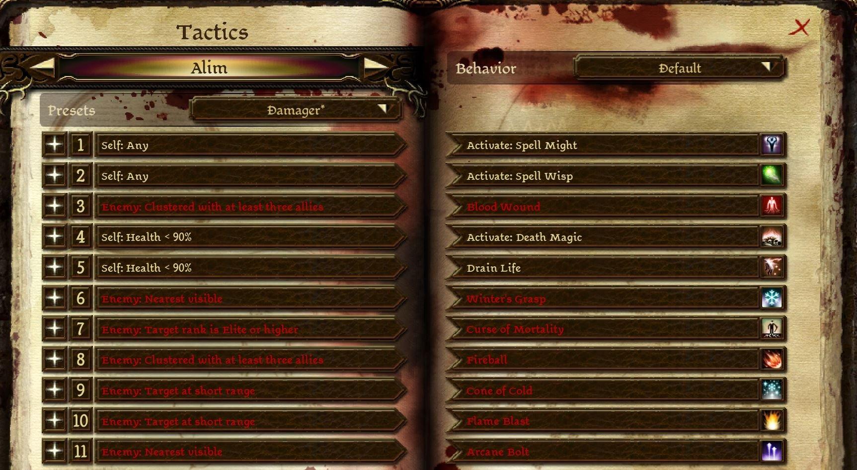 Blood mage tactics