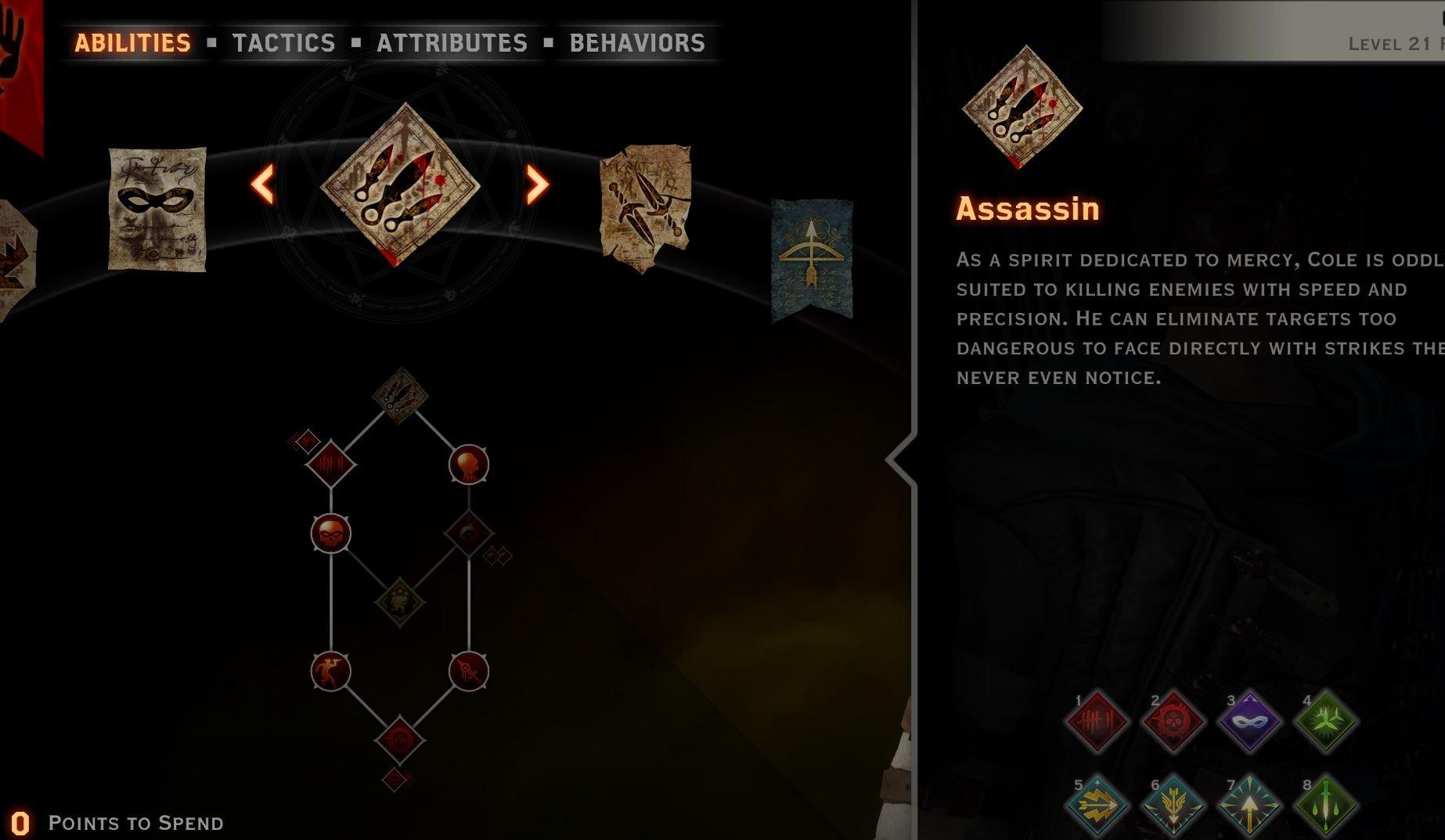 Cole archer Assassin tree