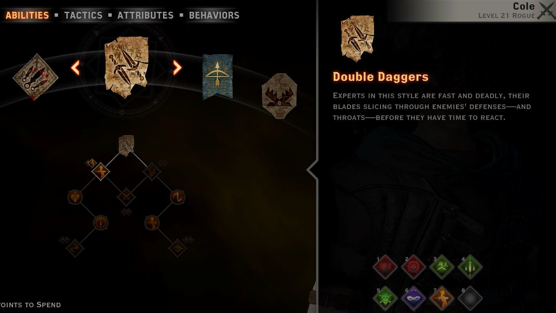 Cole dw build Double Daggers tree
