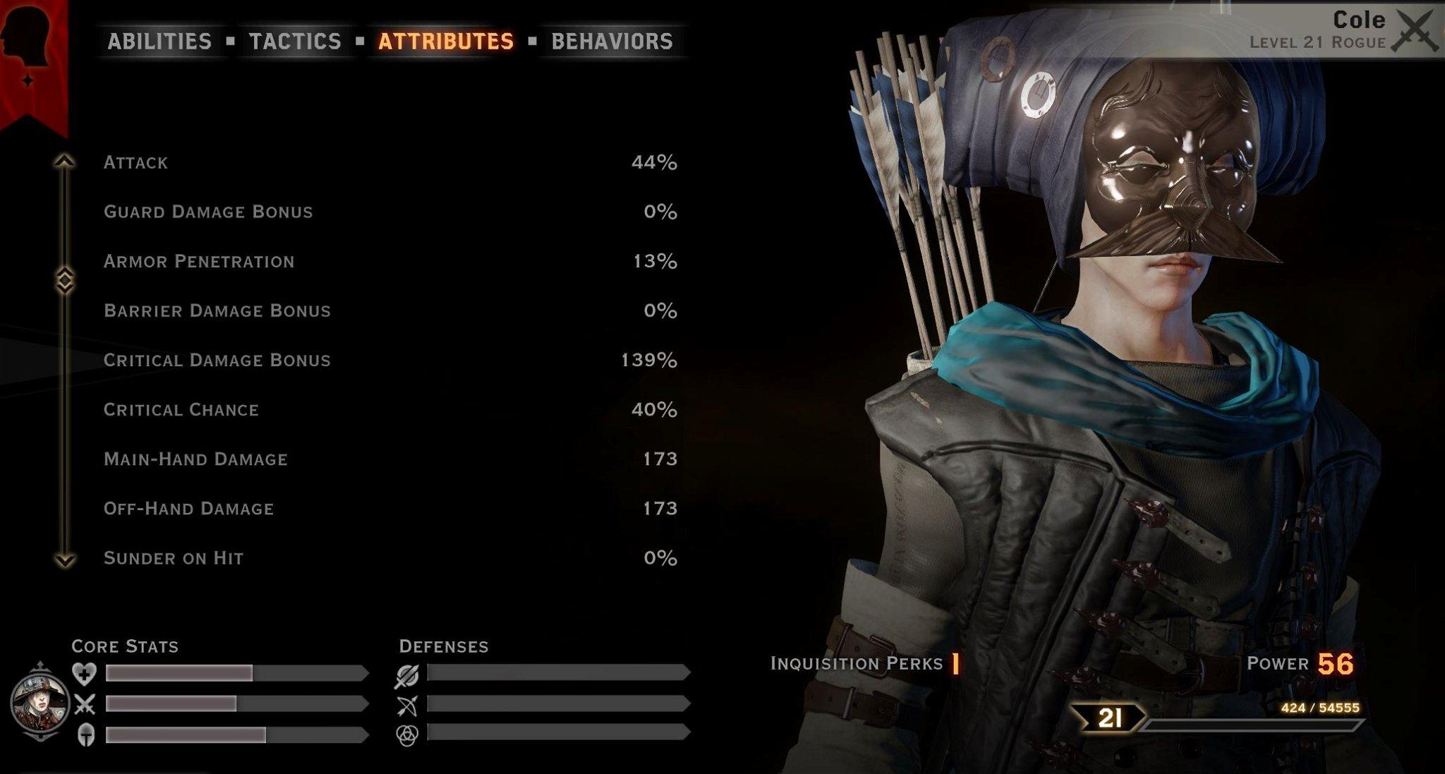 Cole stats archer build