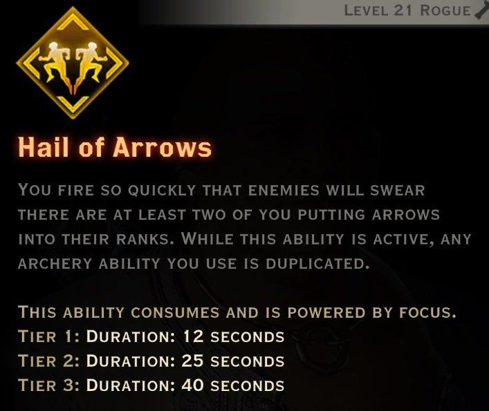 Hail of arrows description