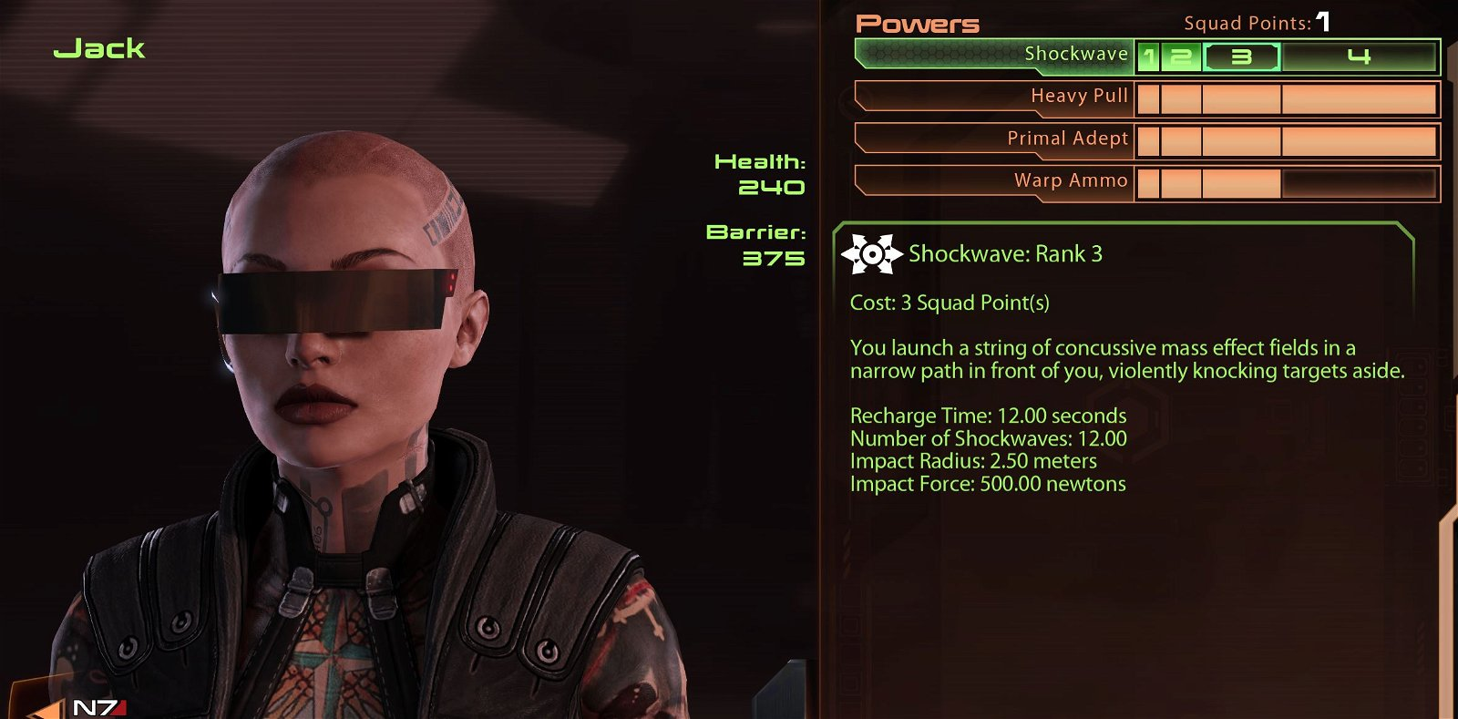 Jack build biotic explosion skills