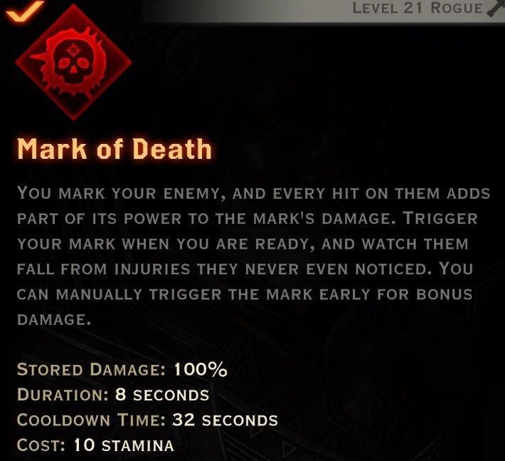 Mark of death description