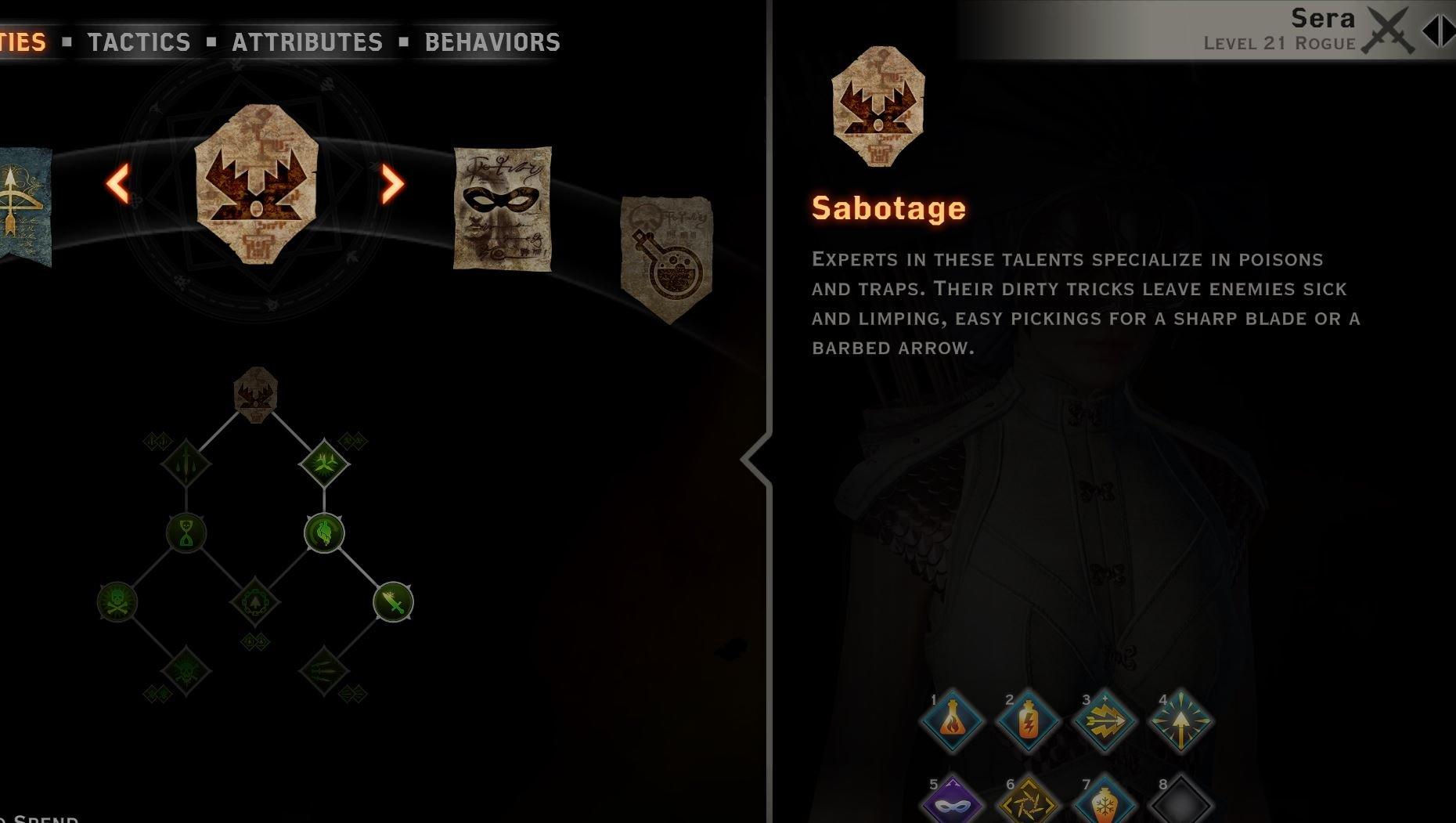 Sabotage tree sera